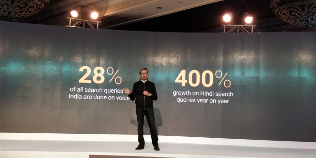 Rajan and Co are excited about the voice search potential in India.