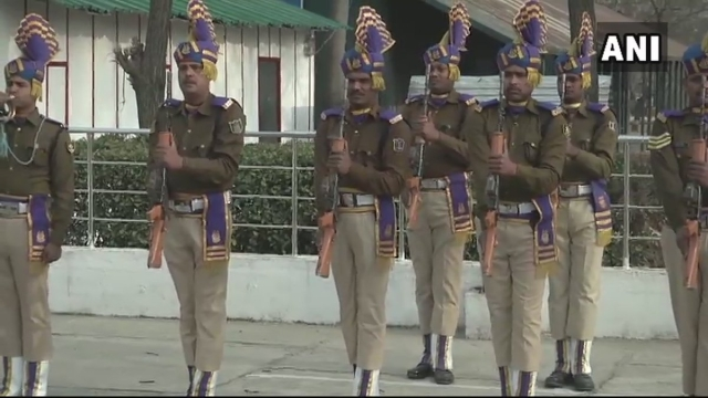 Wreath-laying ceremony for the martyred soldiers.