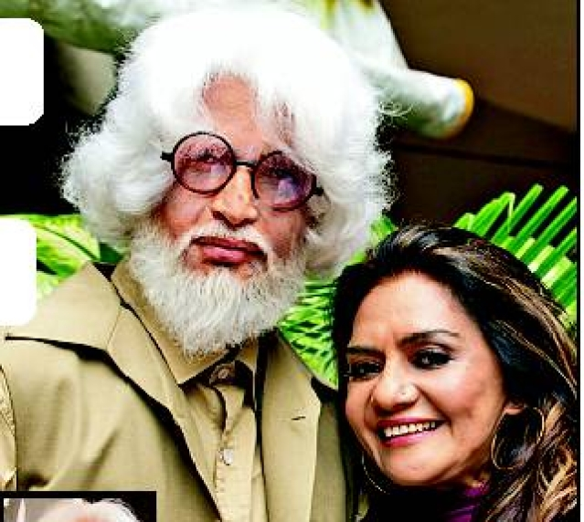 Barkha Roy with the actor essaying the character of Husain.