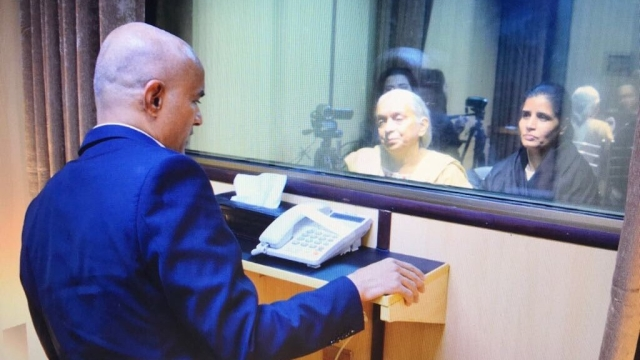 Kulbhushan Jadhav meeting his mother and wife.