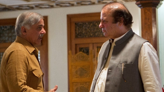 Nawaz Sharif and brother Shehbaz Sharif.
