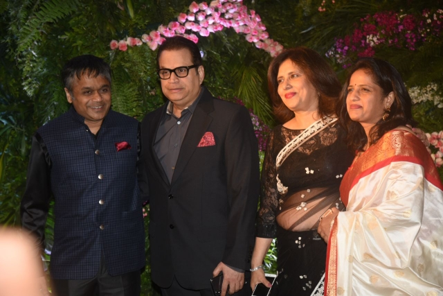 Producer Ramesh Turani and his family at the reception.
