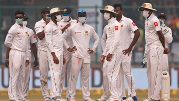 The Sri Lankan players have had a tough time during the third Test against India in New Delhi.