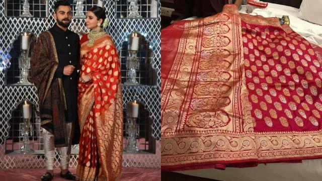 Anushka Sharma in a Sabyasachi saree vs a Banarasi sari no