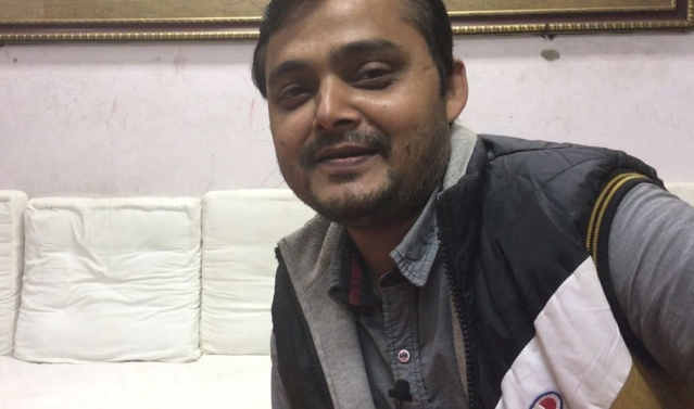 Muazzam Ansari, the man behind the red Banarasi saree that Anushka Sharma wore for her wedding reception in New Delhi.
