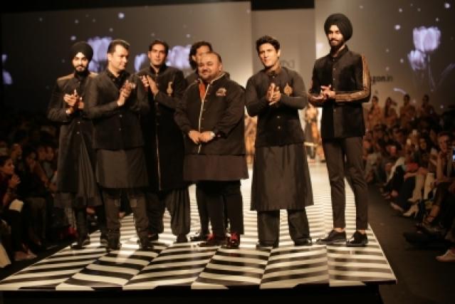 New Delhi: Models walk the ramp during designer JJ Valaya