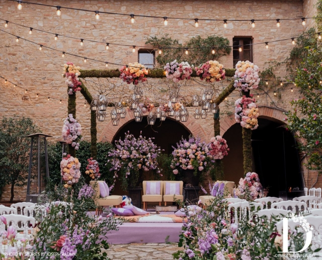 Decor done by Devika Narain at the Tuscan wedding of Anushka & Virat