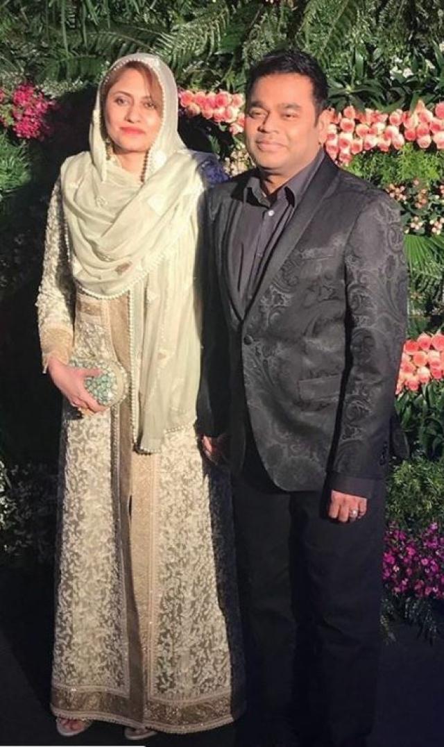 AR Rahman with his spouse.