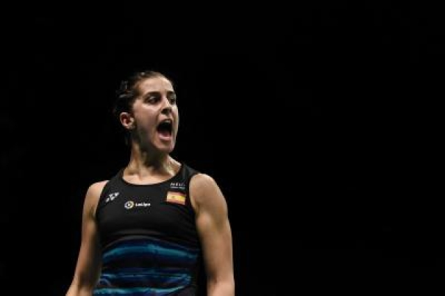 Carolina Marin. (File Photo: Xinhua/Du Yu/IANS)
