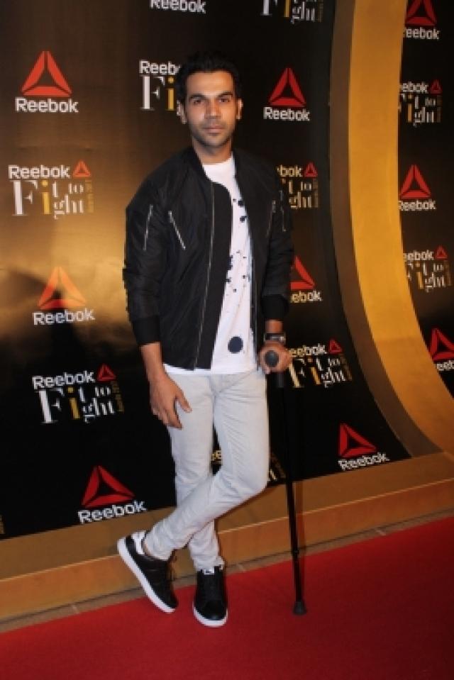 Mumbai: Actor Rajkummar Rao at the Reebok`s Fit To Fight awards ceremony in Mumbai on Dec 7, 2017. (Photo: IANS)
