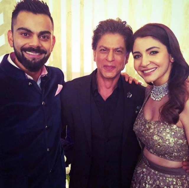 King Khan with the newly-weds.