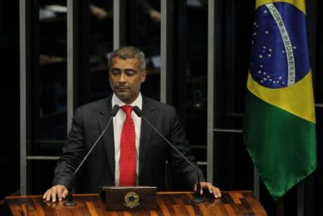 BRASILIA, May 29, 2015 (Xinhua) -- The senator and former Brazilian player Romario takes part in a plenary session of the Senate in Brasilia, Brazil, on May 28, 2015. The Brazilian Senate on Thursday approved the request made by former soccer star and now Senator Romario for the creation of a congressional panel to investigate corruption in soccer. (Xinhua/Dida Sampaio/AGENCIA ESTADO) (vf/IANS)