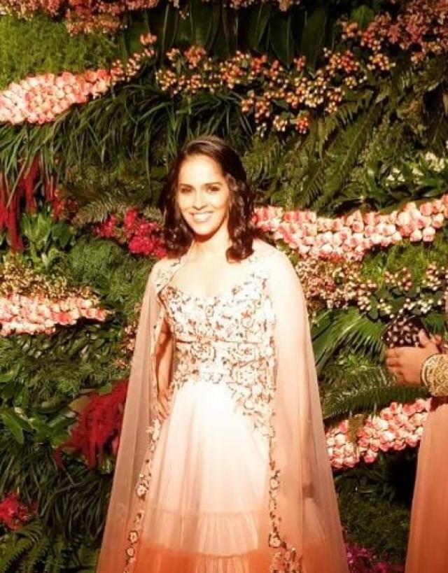 Sports star Saina Nehwal at the reception.
