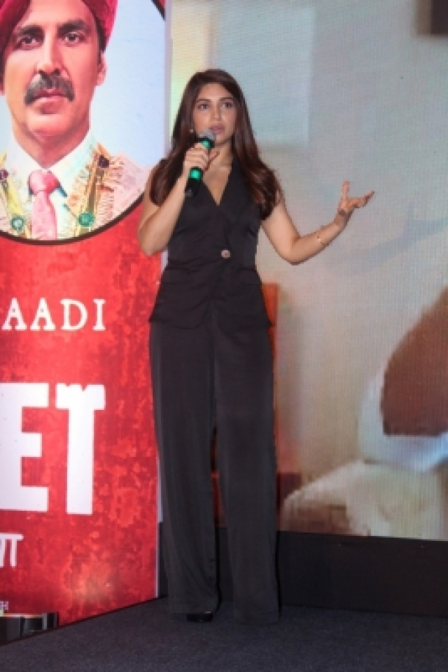 "Mumbai: Actress Bhumi Pednekar during the success press conference of the film ""Toilet: Ek Prem Katha"" in Mumbai on Aug 18, 2017. (Photo: IANS)"