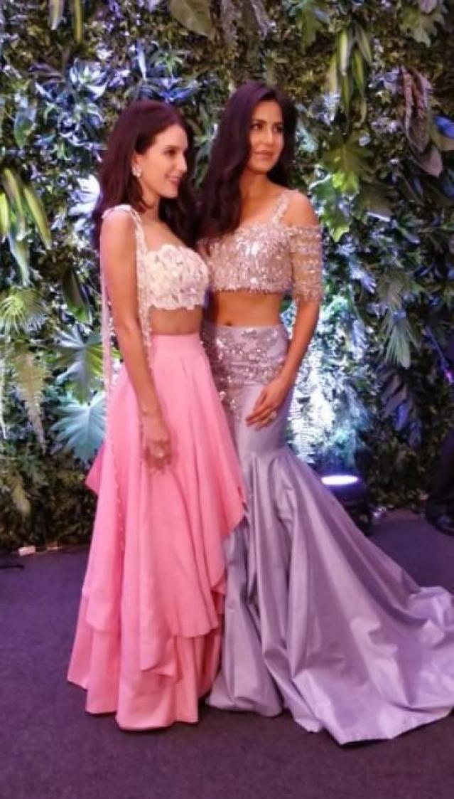 Katrina Kaif with her sister.