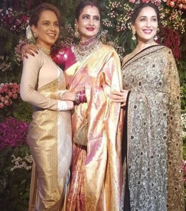 Kangana Ranaut, Rekha and Madhuri Dixit. (L-R)