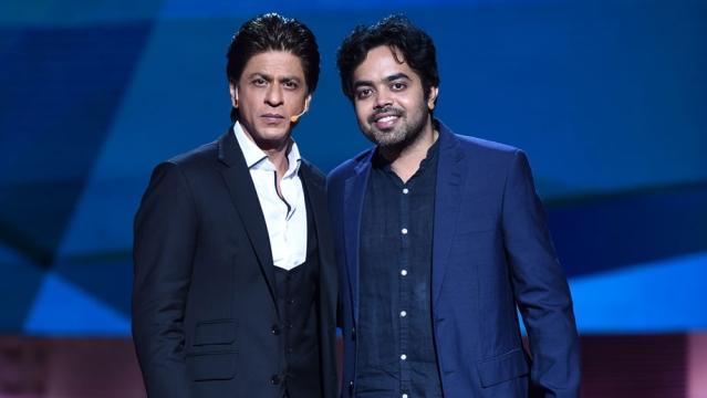 Shah Rukh Khan with Anirudh Sharma