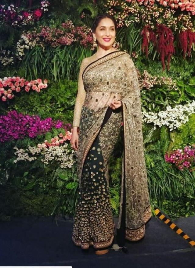 Madhuri at the reception.