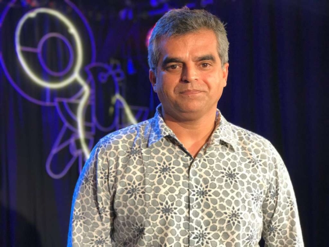 Atul Khatri, businessman-turned-comedian poses for a picture at the Cuckoo Club in Mumbai.