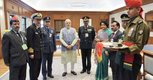PM Modi at the Kendriya Sainik Board