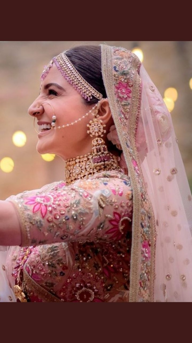 Anushka Sharma makes a stunning bride.