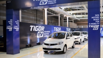 Tata Motors Tigor Electric sedan is being made at its plant in Sanand, Gujarat.