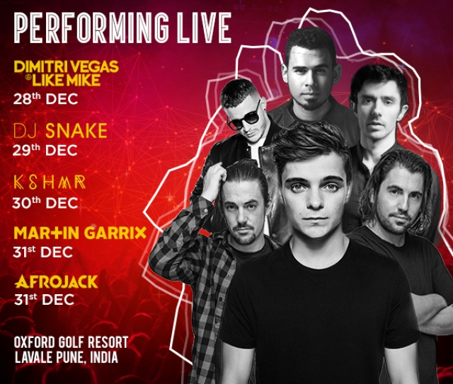 The performers at Sunburn 2017.