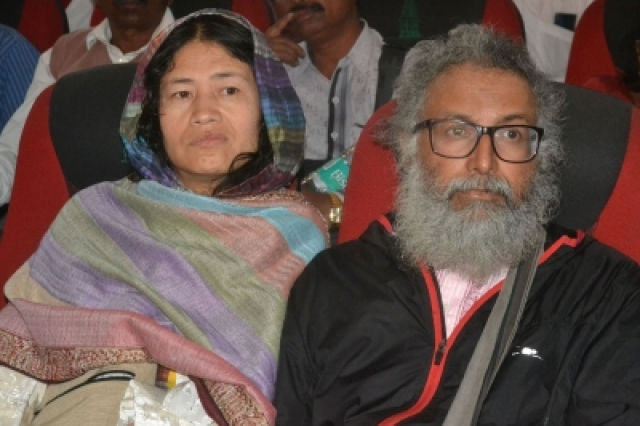Bengaluru: Rights activist Irom Sharmila Chanu during a programme organised on Gauri Lankesh