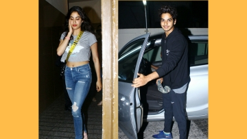 Janhvi and Ishaat Khatter.