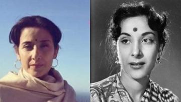 Manisha Koirala as Nargis Dutt in <i>Sanju</i>.
