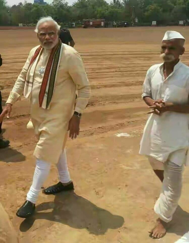 PM Modi with Sambhaji Bhide