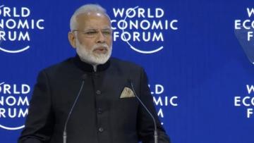 PM Narendra Modi addresses opening plenary at Davos.