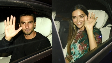 Ranveer Singh and Deepika Padukone drive in for <i>Padmaavat.</i>