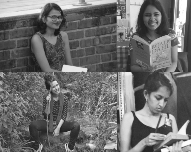 (Anti-clockwise) Co-founders Alishya Almeida and Meghna Chaudhury; writers Ashwini Ashokkumar and Varsha Varghese