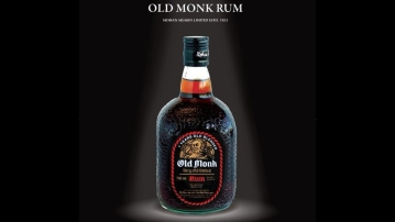 A bottle of Old Monk.
