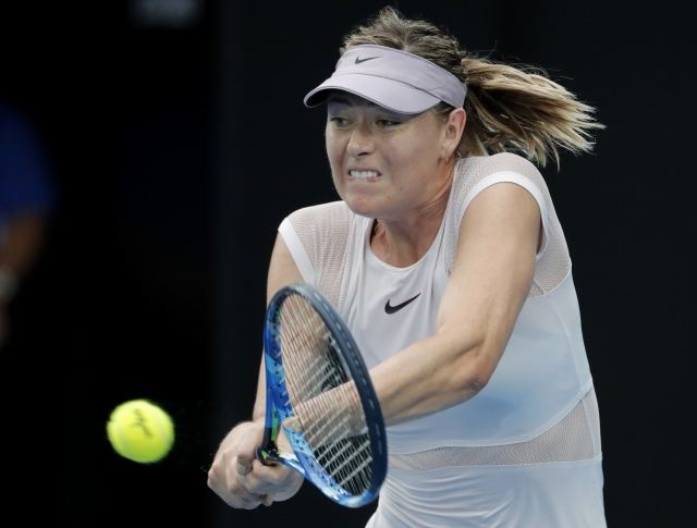 Maria Sharapova in action.