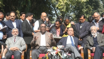 Four senior most judges from the Supreme Court held an unprecedented press conference on Friday, 12 January.
