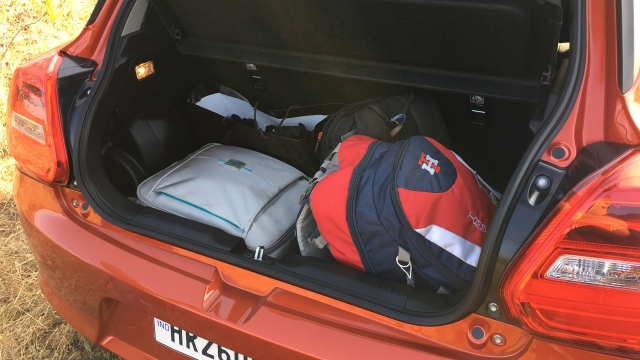Boot space in the Swift is now 268 litres, an increase of 58 litres over the earlier Swift.