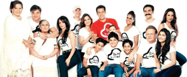 The entire Khan family donning Being Human apparel.