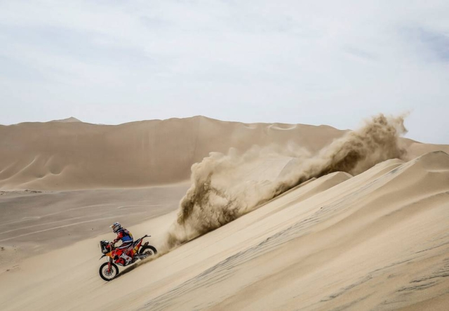 A KTM rider in action.