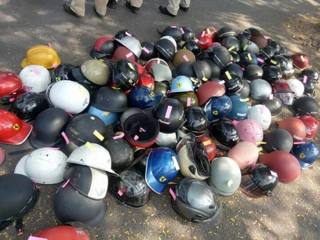 Social media posts are tending towards a crackdown against poor quality helmets in Bengaluru.