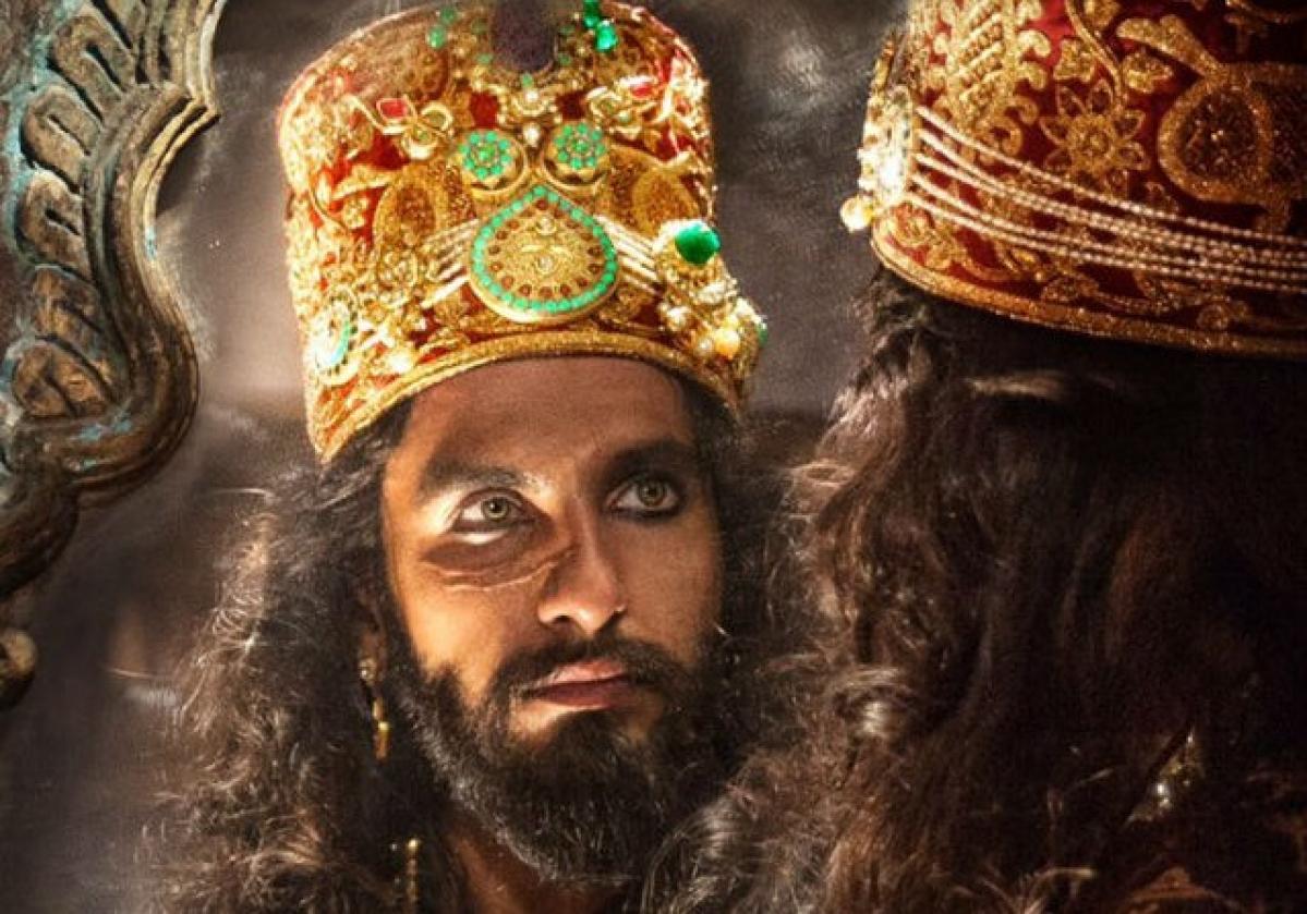 "Ranveer Singh as Khilji in <i>Padmaavat</i>."" data-reactid=""348″><figcaption class="