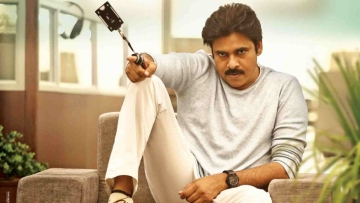 Pawan Kalyan in a still from <i>Agnyaathavaasi</i>.