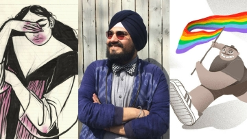 Body positivity and freedom of sexuality are essential elements in Jasjyot Singh Hans' work.