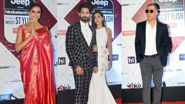 Deepika Padukone, Shahid and Mira Kapoor and Akshay Kumar on the red carpet.