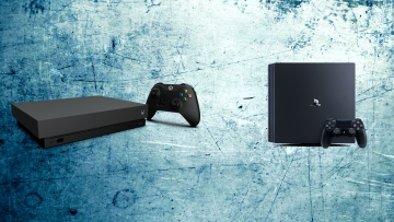 Xbox One X (left) Vs PS4 Pro