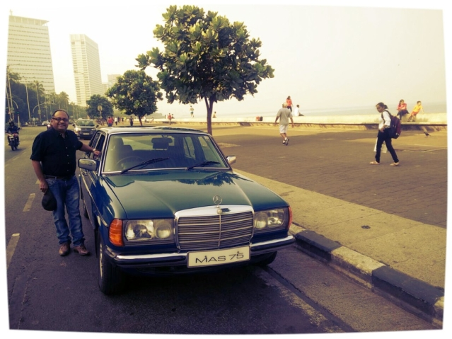 Dr Alok Patel with his 1984 W123 Mercedes 300D.