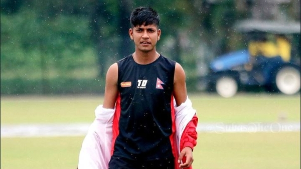 Sandeep Lamichhale, the first ever Nepali player to play the IPL.