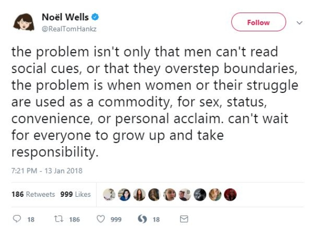 ''Grow up and take responsibility'', argues Noel Wells.
