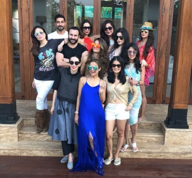 Amrita Arora looks happiest with her squad.